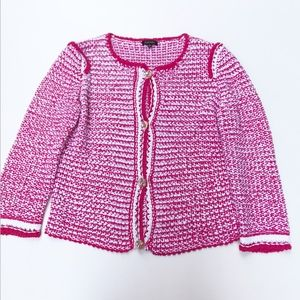 Escada Pink Cardigan Jacket Button Front Medium